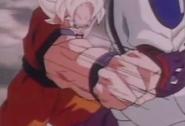 Goku punchs cooler