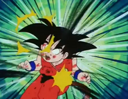 Tambrine kneed kid goku in the stomach2