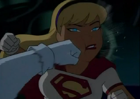Super girl face punched