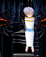 Kid trunks shirtless and tied up gagged un web and mad