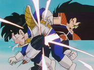 Raditz kneed gohan in the stomach