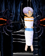 Kid trunks shirtless and tied up mad