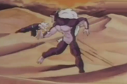 Gohan gets hit in the gut