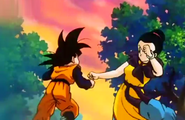 Chichi abou to kicks goten stomach