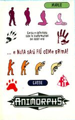 Animorphs 31 the conspiracy italian stickers adesivi