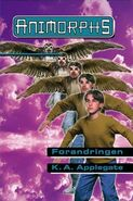 Animorphs 13 the change Forandringen Norwegian cover
