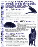 Animorphs Alliance Flash issue 1 morphs of the month lizard shrew wolf