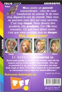 Animorphs 32 the separation french back cover