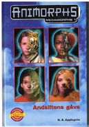 Animorphs mm1 swedish andalitens gava andalites gift cover