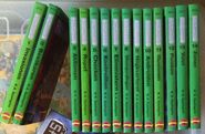 Animorphs swedish book spines 1-14