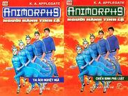 Animorphs 8 the alien Người hành tinh lạ vietnamese covers books 15 and 16
