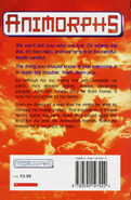 Animorphs 8 the alien UK back cover 1998 edition