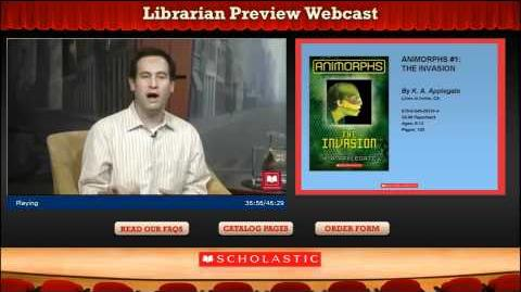 Animorphs reprint, Librarian Preview Webcast-1