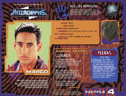 Animorphs VHS Australian 1.5 inside fact file Marco