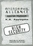 Animorphs alliance flipbook title page