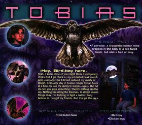 Animorphs 1999 calendar march tobias