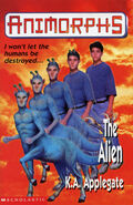 Animorphs 8 the alien UK cover earlier printing