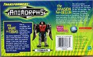 Transformers mega tobias hawk in box back