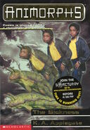 Animorphs 29 the sickness front cover scan with sanctuary sticker