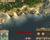 Anno 1404-campaign chapter3 four trading ships queue