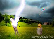 Franklin Struck By Lightning