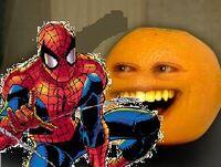 Annoying Orange Spiderman