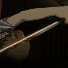 Takako raises her weapon as she prepares to stab Mei.