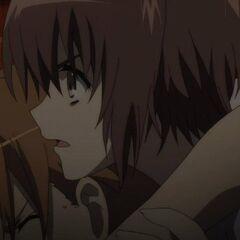 Yuuya tries to drag Naoya to safety.