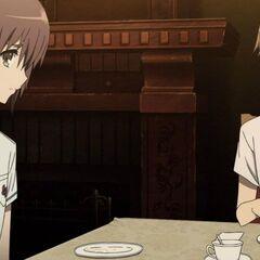 Yuuya and Naoya at dinner.