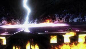 Lightning struck+Fire