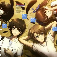 Kouichi, Mei, Teshigawara, and Izumi in a magazine review.