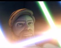 Obi evil grin