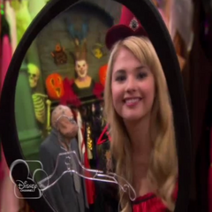 When she looks in the mirror, being a witch