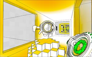 Yellow gun stand