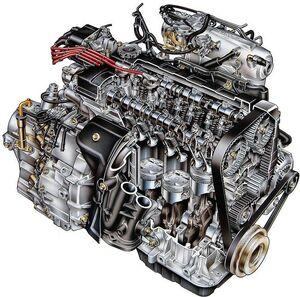 Honda engine cut away