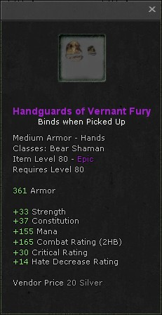 Handguards of vernant fury