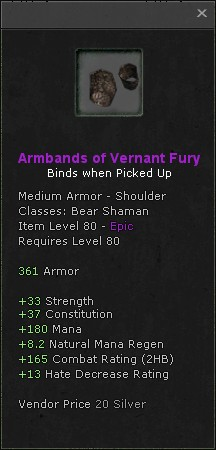 Armbands of vernant fury