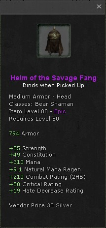 Helm of the savage fang