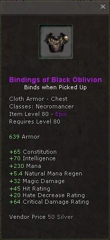 Bindings of black oblivion