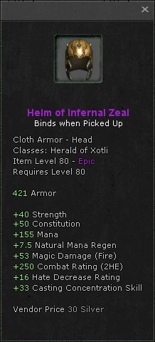 Helm of infernal zeal