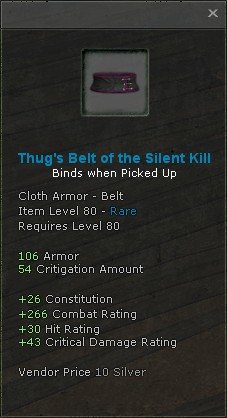 Thugs belt of the silent kill