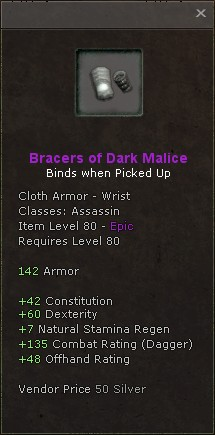 Bracers of dark malice