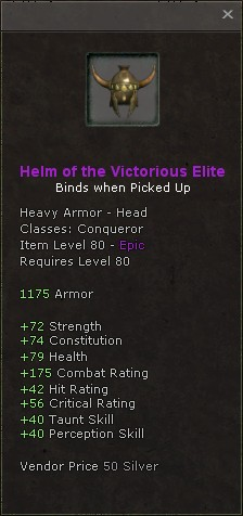 Helm of the victorious elite