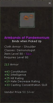 Armbands of pandemonium