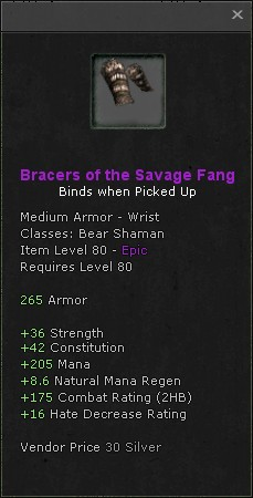 Bracers of the savage fang