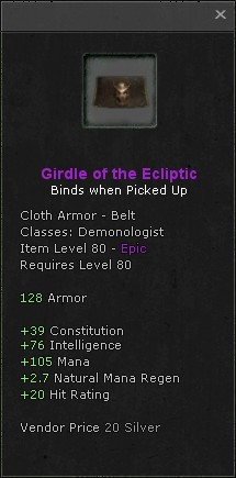 Girdle of the ecliptic