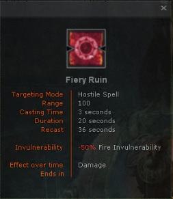 Fiery ruin
