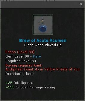 Brew of acute acumen