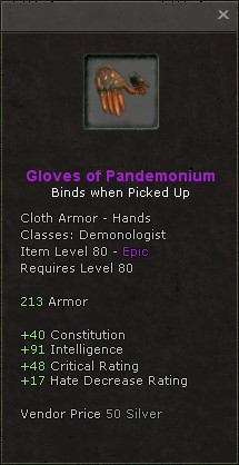 Gloves of pandemonium