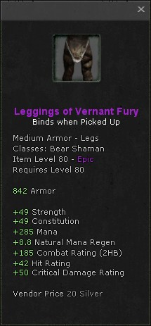 Leggings of vernant fury